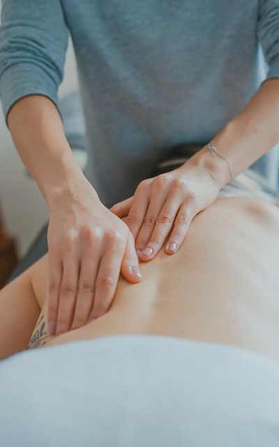 Remedial Massage - woman being massaged