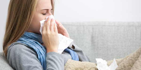 Woman with Acute Cold and Flu