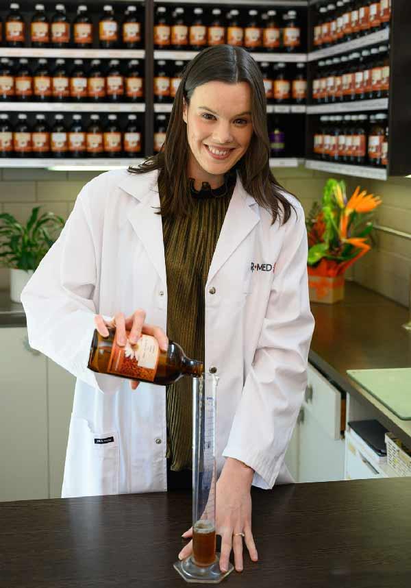 Belinda in the dispensary